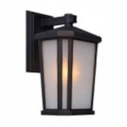 Artcraft One Light Oil Rubbed Bronze Interior-white, Outer-etched Glass Wall Lantern - AC8781OB