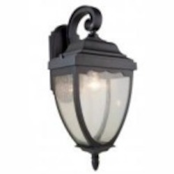 Artcraft One Light Oil Rubbed Bronze Clear Seeded Glass Wall Lantern - AC8921OB