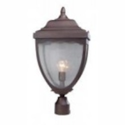 Artcraft One Light Oil Rubbed Bronze Clear Seeded Glass Post Light - AC8923OB