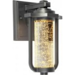 Artcraft One Light Slate Seeded Optic Glass Wall Lantern - AC9011SL