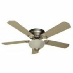Craftmade Two Light Bn - Brushed Nickel Alabaster Glass Hugger Ceiling Fan - K10777