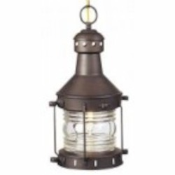 Craftmade One Light Burnished Copper Hanging Lantern - Z111-7