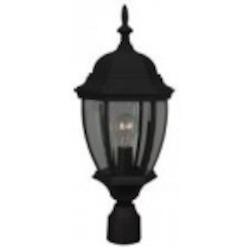 Craftmade One Light Black Post Light - Z285-05