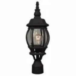 Craftmade One Light Black Post Light - Z325-05