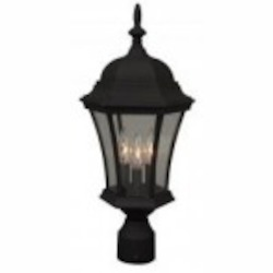 Craftmade Three Light Black Post Light - Z345-05