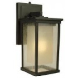 Craftmade One Light Bronze Wall Lantern - Z3714-92