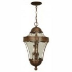 Craftmade Three Light Bronze Hanging Lantern - Z4221-98