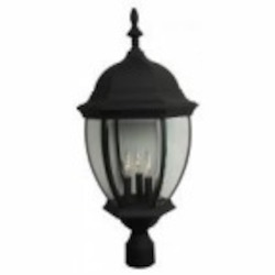 Craftmade Three Light Black Post Light - Z585-05