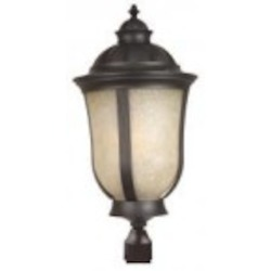 Craftmade One Light Gray Post Light - Z6115-92-NRG