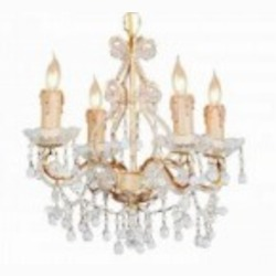 Crystorama Four Light Champagne Murano Crystal Glass Up Chandelier - 4504-CM-CLEAR