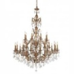 Crystorama Brass Up Chandelier - 5147-AG-GT-MWP