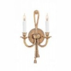 Crystorama Two Light Olde Brass Wall Light - 650-OB