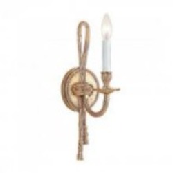 Crystorama One Light Olde Brass Wall Light - 651-OB
