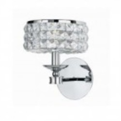 Crystorama One Light Polished Chrome Clear Hand Polished Glass Wall Light - 801-CH-CL-MWP
