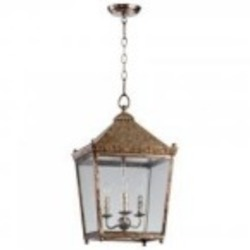 Cyan Designs Three Light Rustic Acid Portable Lantern - 05175