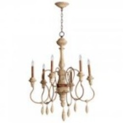 Cyan Designs Six Light Sutherland Buff Up Chandelier - 05176