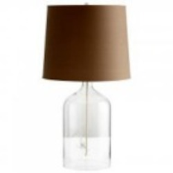 Cyan Designs One Light Clear Glass Charcoal And White Lining Shade Table Lamp - 05311