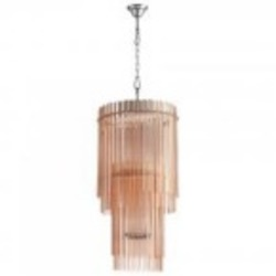 Cyan Designs Nine Light Blush Glass Down Chandelier - 05720