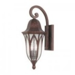Designers Fountain Three Light Burnished Antique Copper Clear & Frosted Seedy Glass Wall Lantern - 20621-BAC