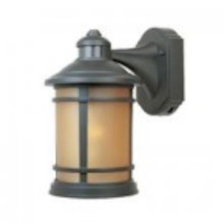 Designers Fountain One Light Mediterranean Patina Sunlit Copper Glass Wall Lantern - 2371MD-ORB