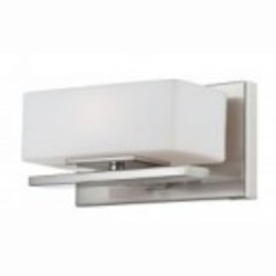Designers Fountain One Light Satin Platinum Opal Glass Bathroom Sconce - 6711-SP