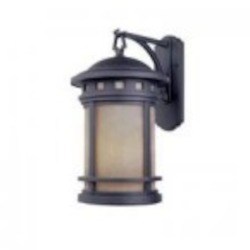 Designers Fountain One Light Oil Rubbed Bronze Amber Glass Wall Lantern - ES2371-AM-ORB