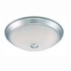 Designers Fountain LED Satin Platinum Alabaster Glass Bowl Flush Mount - LED101-SP-AL