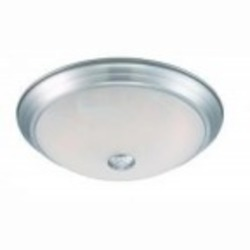 Designers Fountain LED Satin Platinum Alabaster Glass Bowl Flush Mount - LED102-SP-AL