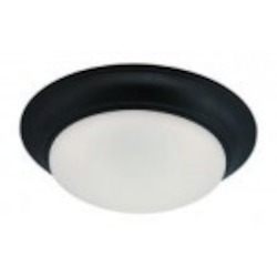 Designers Fountain LED Oil Rubbed Bronze Frosted Glass Bowl Flush Mount - LED201-ORB-FR