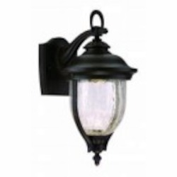 Designers Fountain Clear Crackle Glass Mystic Bronze Wall Lantern - LED22121-MBZ