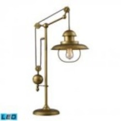 Dimond One Light Antique Brass Table Lamp - 65100-1-LED