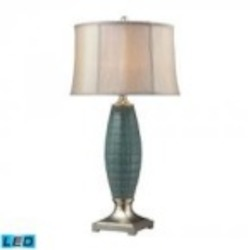 Dimond One Light Turquoise Glaze/silver Leaf Table Lamp - D2272-LED