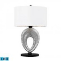 Dimond One Light Silver/black Paint Table Lamp - D2326-LED