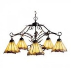 ELK Lighting Five Light Antique Iron Down Chandelier - 035-IA