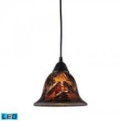 ELK Lighting One Light Dark Rust Down Pendant - 10144/1FS-LED