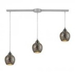 ELK Lighting Three Light Satin Nickel Multi Light Pendant - 10208/3L-SLV