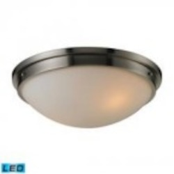 ELK Lighting Two Light Brushed Nickel Bowl Flush Mount - 11441/2-LED