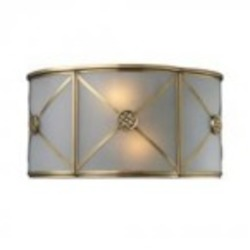 ELK Lighting Two Light Brushed Brass Wall Light - 22000/2