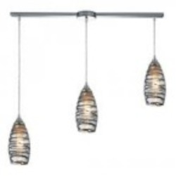 ELK Lighting Three Light Polished Chrome Multi Light Pendant - 31338/3L-vinw