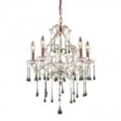 ELK Lighting Five Light Rust Up Chandelier - 4012/5LM