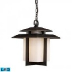 ELK Lighting One Light Hazlenut Bronze Hanging Lantern - 42172/1-LED