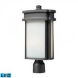 ELK Lighting One Light Graphite Post Light - 42345/1-LED