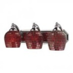 ELK Lighting Three Light Polished Chrome Copper Mosaic Glass Vanity - 570-3C-CPR