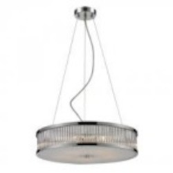 ELK Lighting Five Light Chrome Drum Shade Pendant - 81042/5