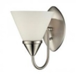 ELK Lighting One Light Satin Nickel Bathroom Sconce - 84055/1