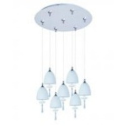 ET2 Chute 7-Light RapidJack Pendant and Canopy - E93726-11SN
