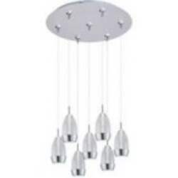 ET2 Luxe 7-Light LED RapidJack Pendant and Canopy - E93752-91SN
