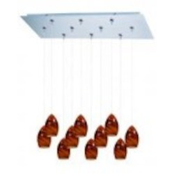 ET2 Minx 10-Light RapidJack Pendant and Canopy - E93940-114SN