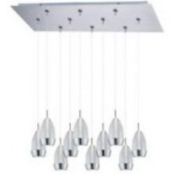 ET2 Luxe 10-Light LED RapidJack Pendant and Canopy - E93952-91SN