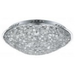 Eglo Eight Light Chrome Bowl Flush Mount - 91599A